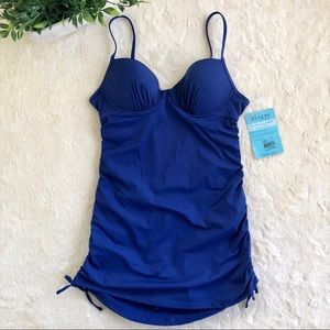 Love your assets spanx blue one piece swimsuit